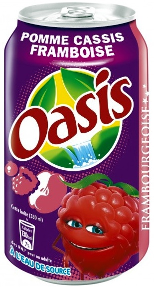 Oasis Pomme Cassis Framboise Frambourgeoise - Produit