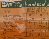 Pocket Tropical - Nutrition facts