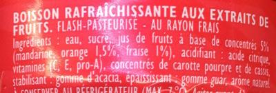 Orange Fraise - Ingrédients
