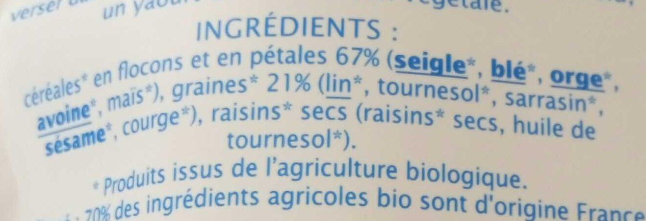 Muesli aux graines gourmandes  - Ingredients