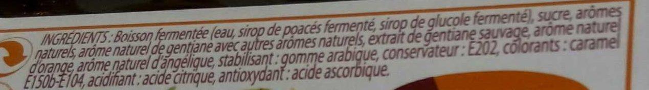 Gentiane sauvage - Ingrédients - fr