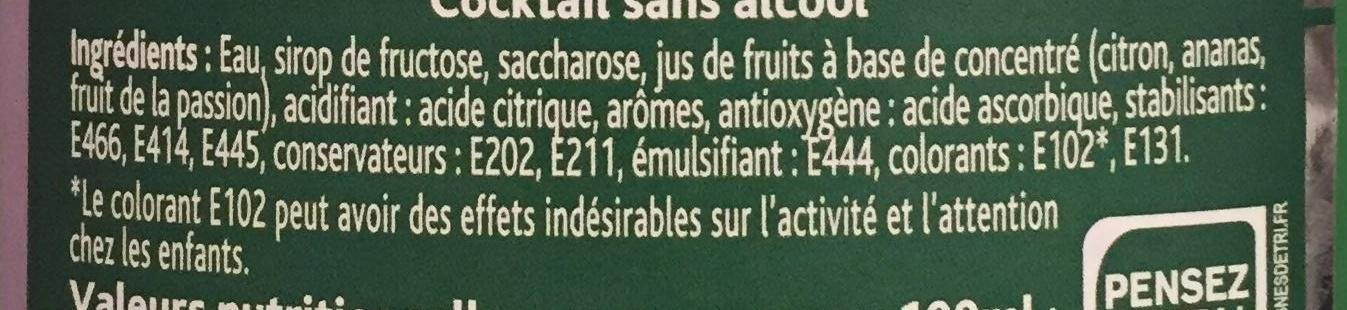 Citron vert & kiwi - Ingrédients
