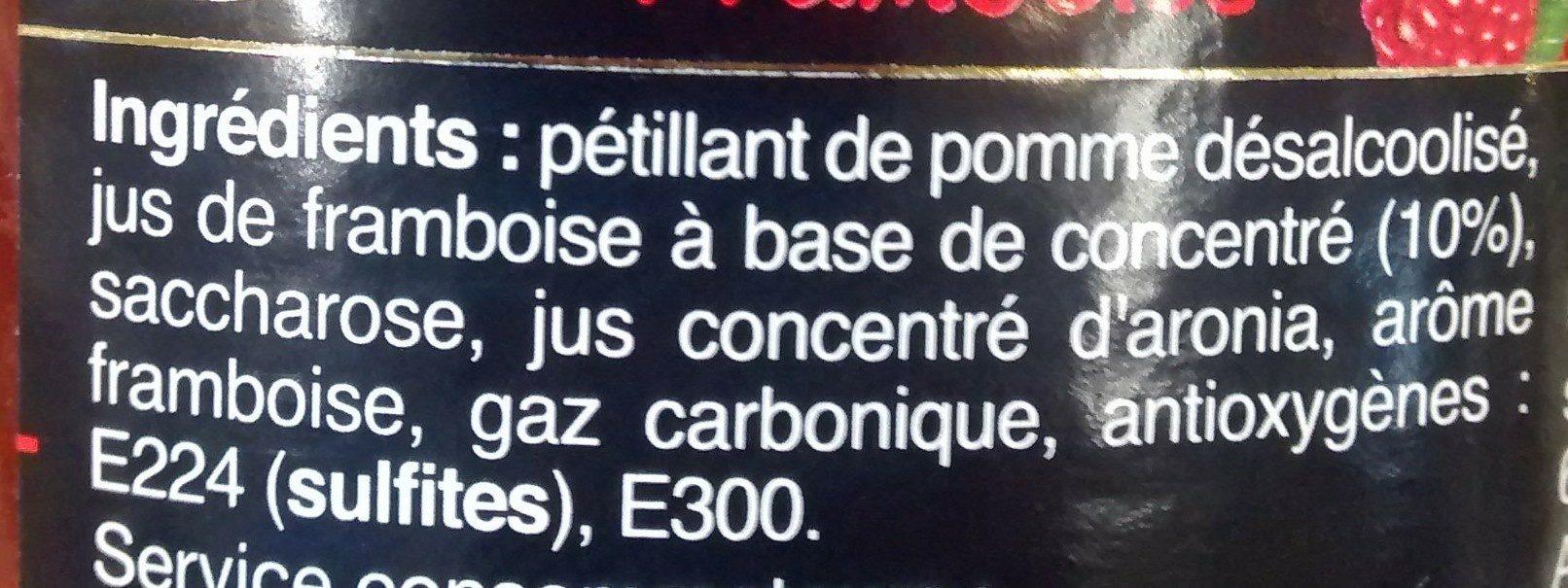 D'Artigny, Cocktail Royal, framboise - Ingrédients - fr