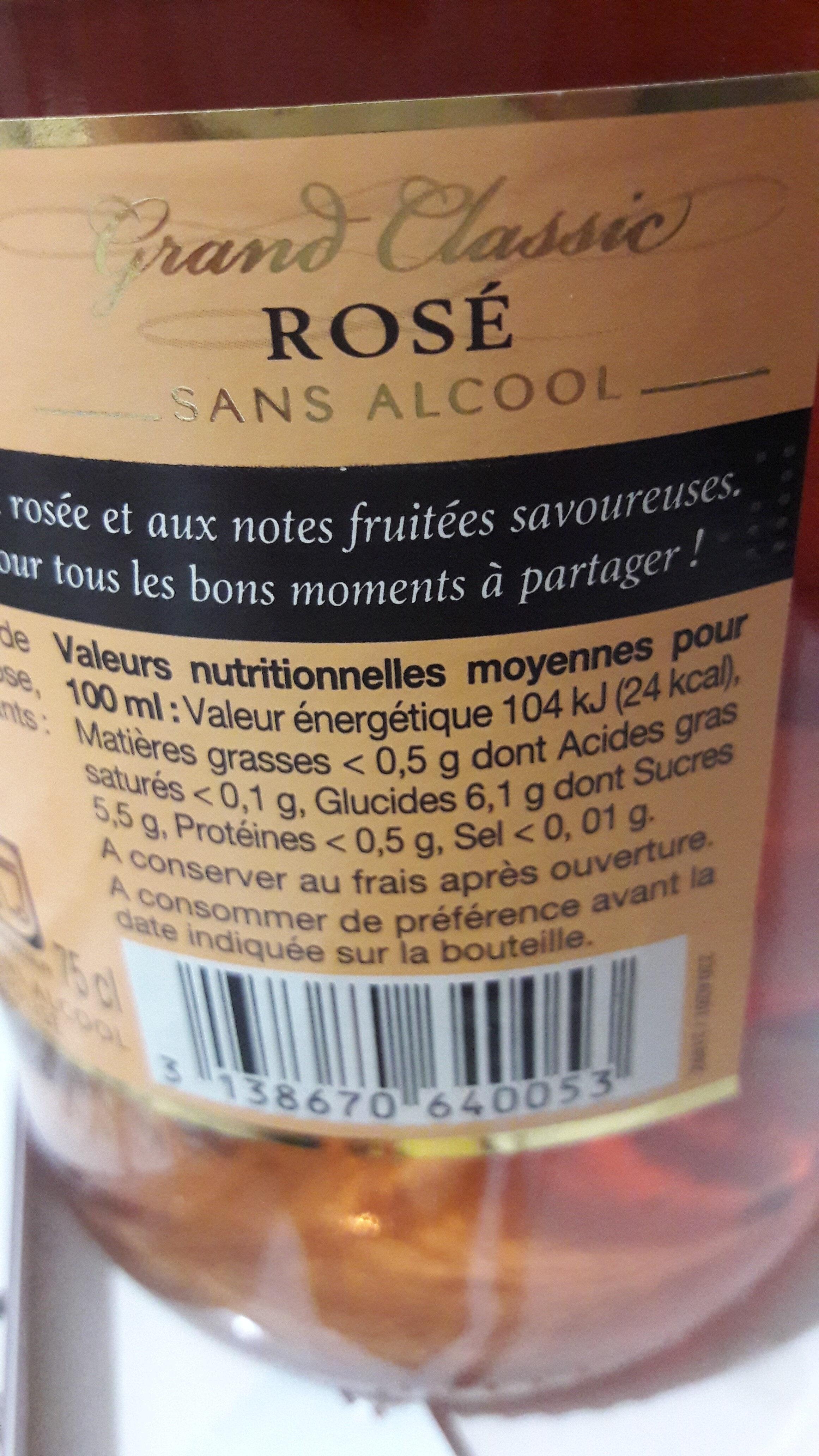 Rose Pétillant - Informations nutritionnelles - fr