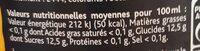 Planteur Créole - Informations nutritionnelles - fr