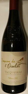 75CL Vacqueyras Rouge Domaine Oiselet - Produit