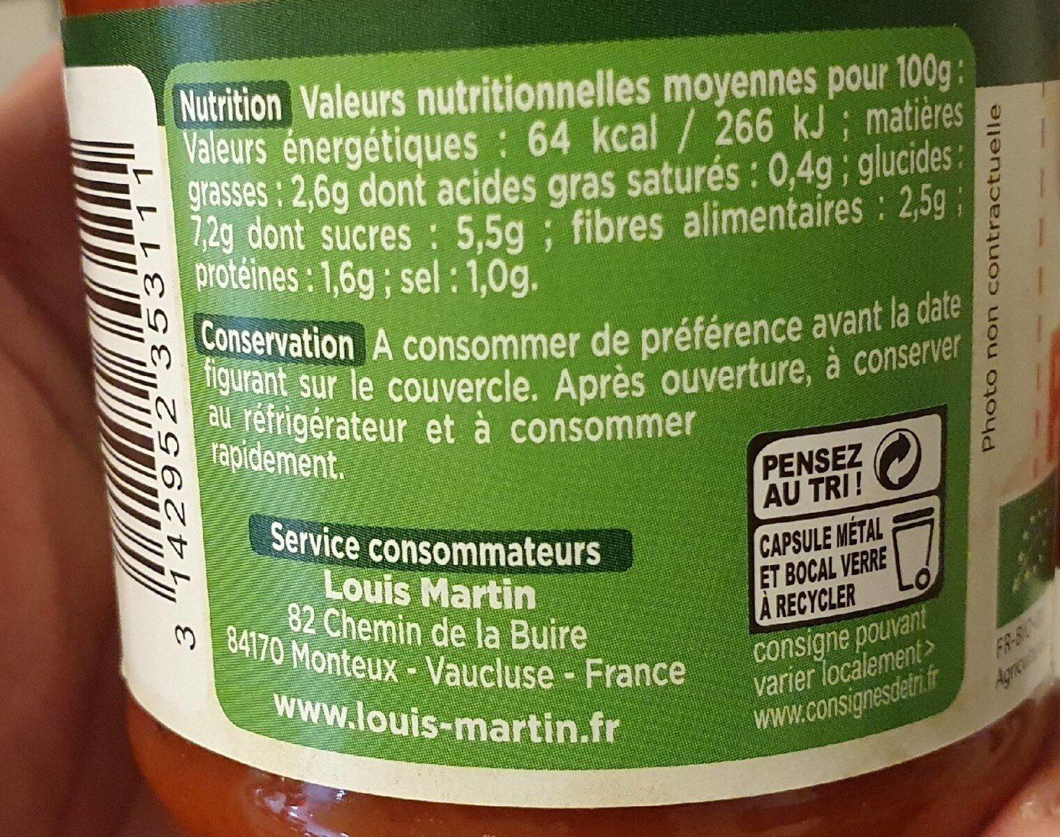 Sauce provencale - Informations nutritionnelles - fr