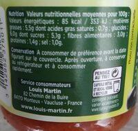 Sauce olives vertes et noires - Informations nutritionnelles - fr