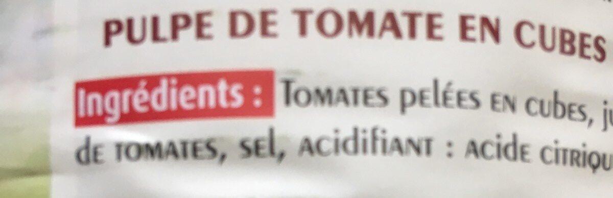 Pulpe te tomate en cube - Ingrédients - fr
