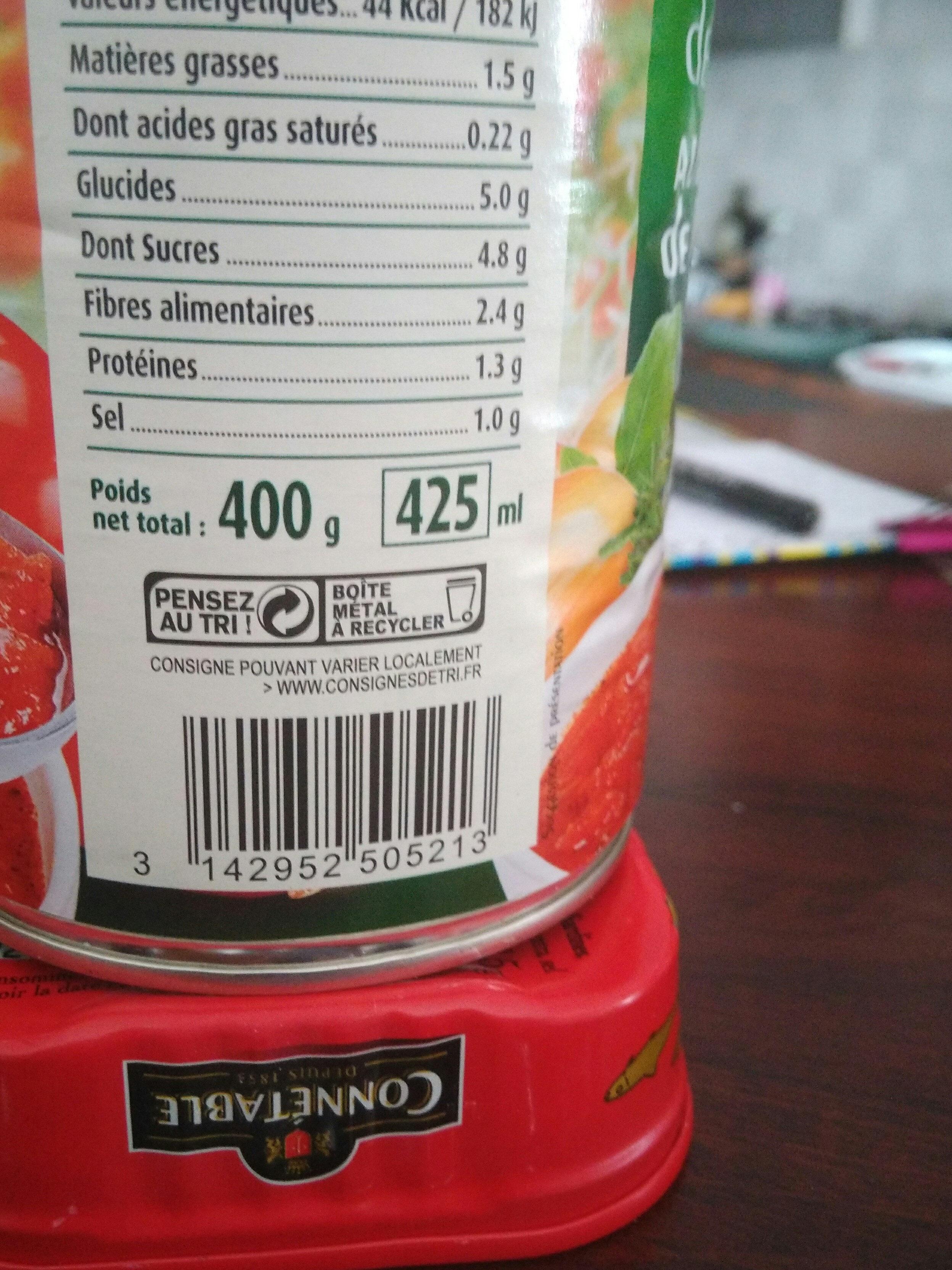 Chair de Tomate Aux Herbes - Informations nutritionnelles - fr