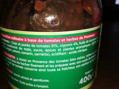 Chair de tomates aux herbes de Provence - Ingrédients - fr