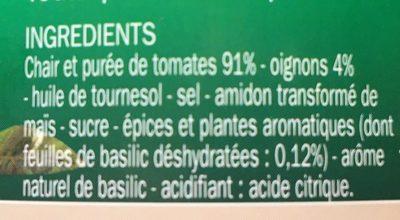 Chair de Tomate au basilic - Ingrédients - fr
