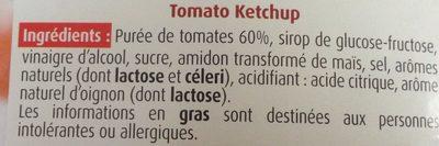 Tomato Ketchup Louis Martin 560 GR - Ingrédients - fr