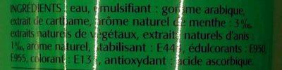 Sensation Menthe - Ingrédients