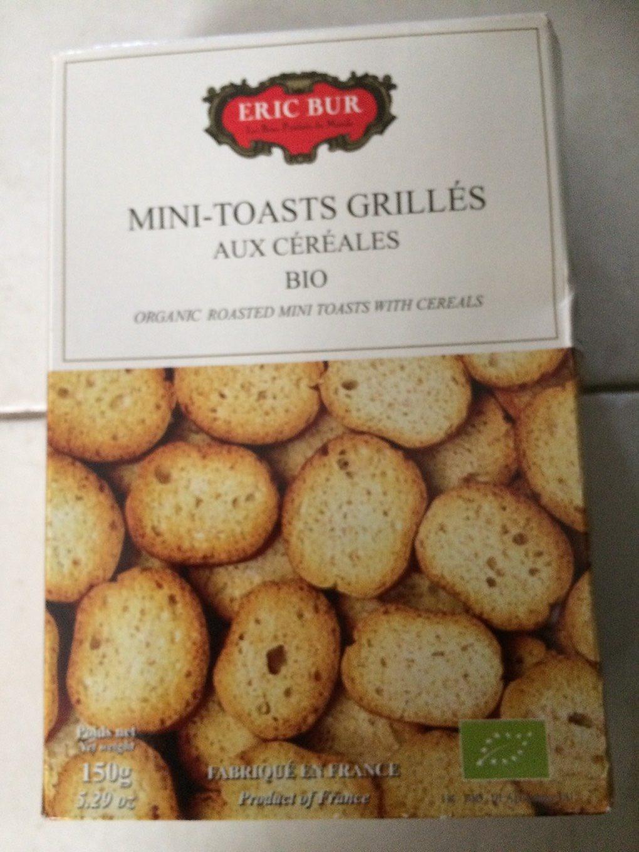 Mini-toast grillés aux céréales bio - Product