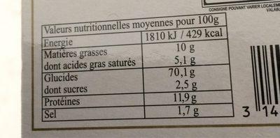 Mini-toast grillés aux céréales bio - Nutrition facts