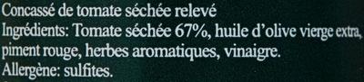 Concassé de tomate séchée relevé - Ingrédients - fr