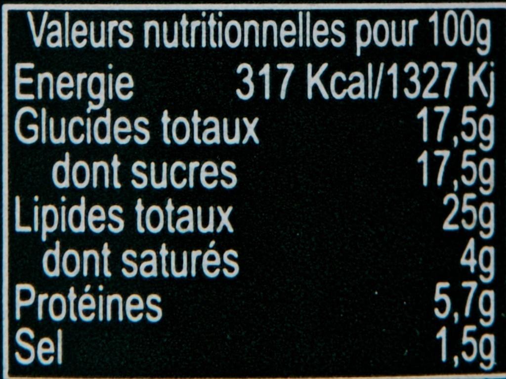 Concassé de tomate séchée relevé - Informations nutritionnelles - fr