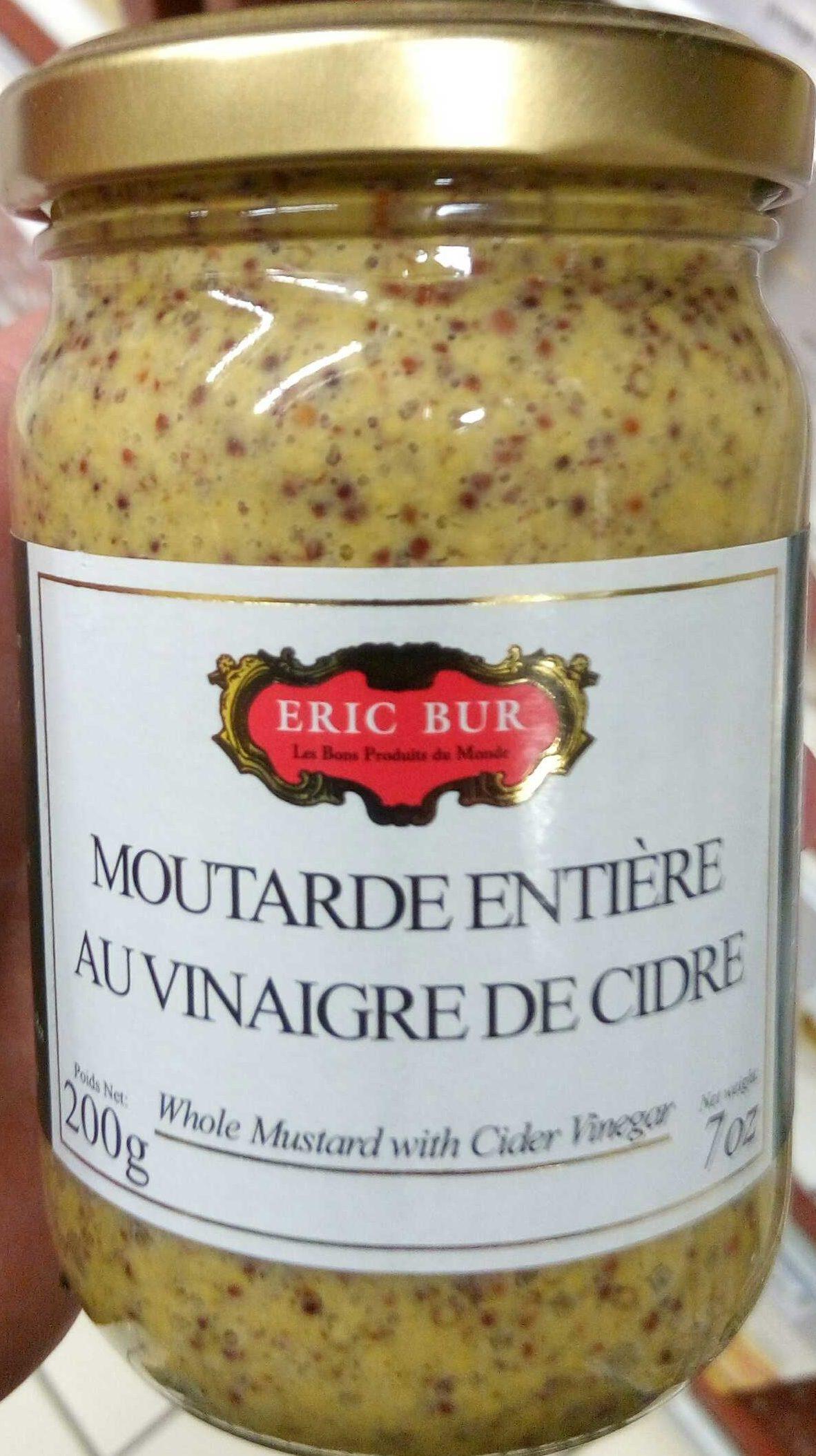 Moutarde a l'ancienne au vinaigre de cidre - Product