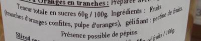 Marmelade d'oranges en tranches - Ingredients - fr