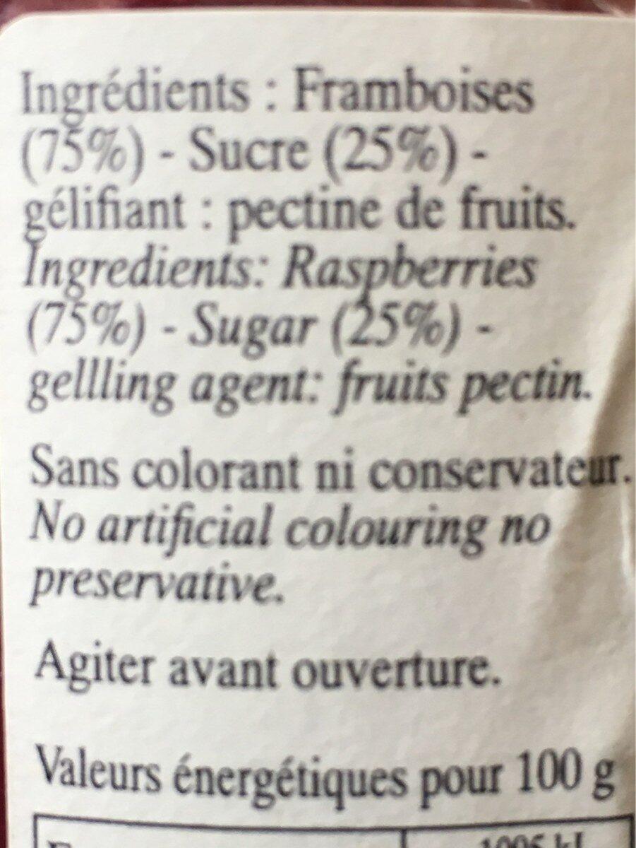 Coulis de framboises - Ingrediënten - fr