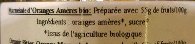 Marmelade d'oranges amères - Ingrédients - fr