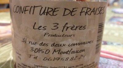 Confiture de fraises les 3 frères - Product - fr