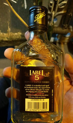 Flask 20Cl Whisky Label 5 - Nutrition facts