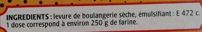 Levure de boulangerie - Ingrédients - fr
