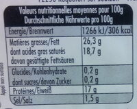 Pérail (26,3% MG) - Informations nutritionnelles - fr