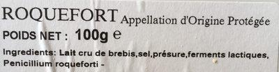 Roquefort (32 % MG) - Ingredients - fr
