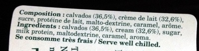 Crème Boulard - Ingrédients
