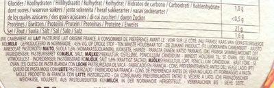 Camembert Le Rustique de Printemps - Ingredients