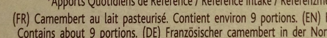 Camembert, Le Rustique de Printemps (20 % MG) - Ingredients - fr