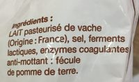 Emmental Râpé VDC 29 % - Ingrédients