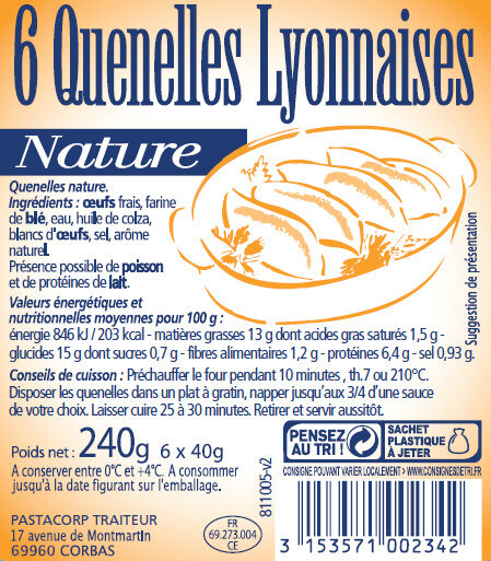 Quenelle nature - Product