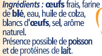 Quenelle nature - Ingredients