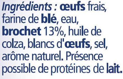 6 quenelles lyonnaises brochet - Ingrédients