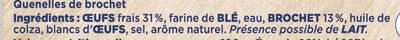 Quenelles lyonnaises de Brochet - Ingrédients - fr