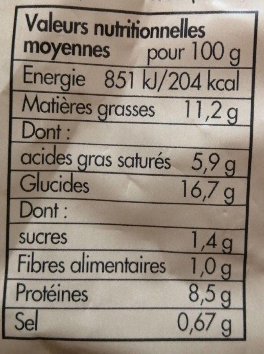Quenelles de brochet façon traiteur - Informations nutritionnelles - fr