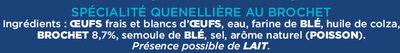 Maxi Délices Soufflés Brochet - Ingrediënten