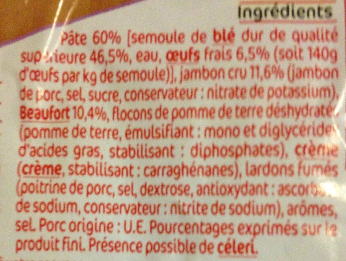 Tortellini au Jambon cru et Beaufort - Ingredients
