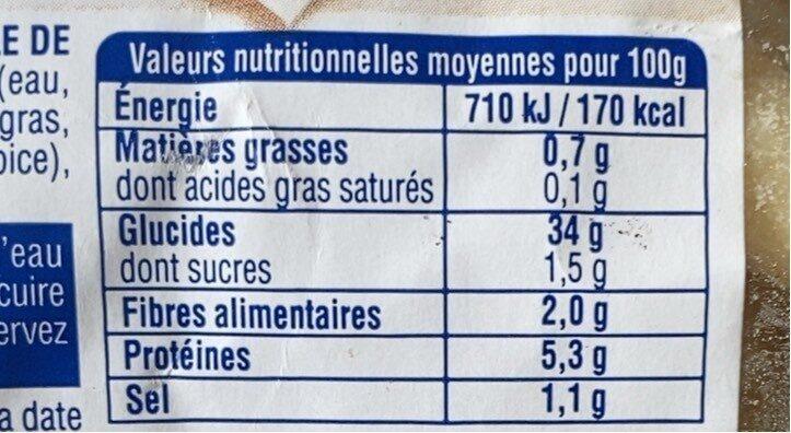 Gnocchi de Savoie - Informations nutritionnelles - fr