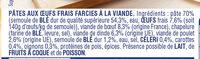 Cappelletti Viande - Ingredients