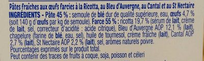 Lunes 3 Fromages d'Auvergne - Ingrediënten