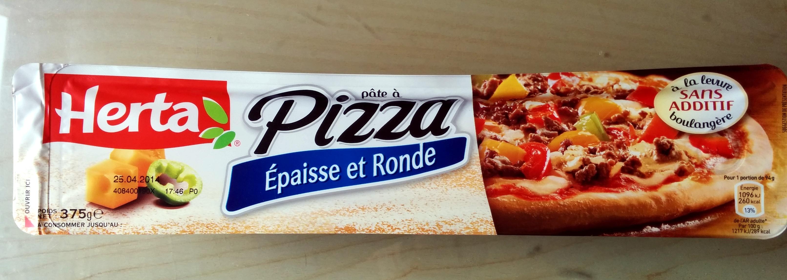 Pâte à pizza Epaisse et Ronde - Produit - fr