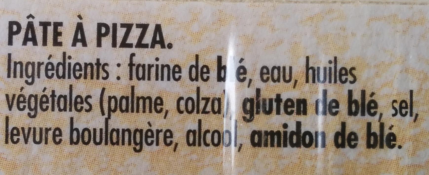 Pâte à pizza Epaisse et Ronde - Ingrédients - fr