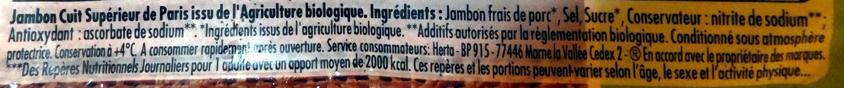 Le Bon Paris, BIO (4 Tranches Fines) - Ingredienti - fr