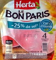 Le Bon Paris, - 25 % sel - Produit