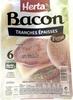 Bacon, Tranches épaisses (Fumé) 6 Tranches - Produit